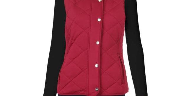 Lauren Ralph Lauren Womens Red Quilted Outdoor Casual Vest P96