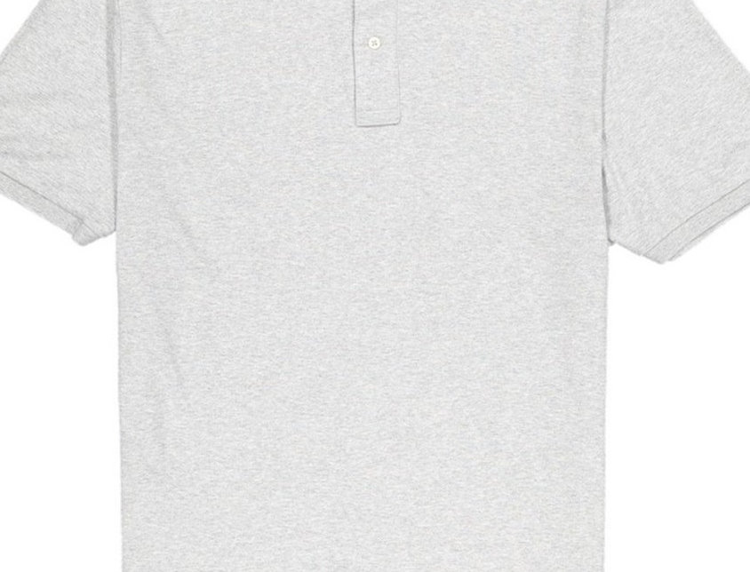 Calvin Klein Men's Grey Lifestyle Soft Liquid Cotton Polo Shirt 30