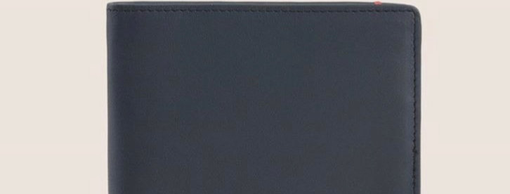 Armani Exchange 958024 Logo Plate Billfold men wallet - Black