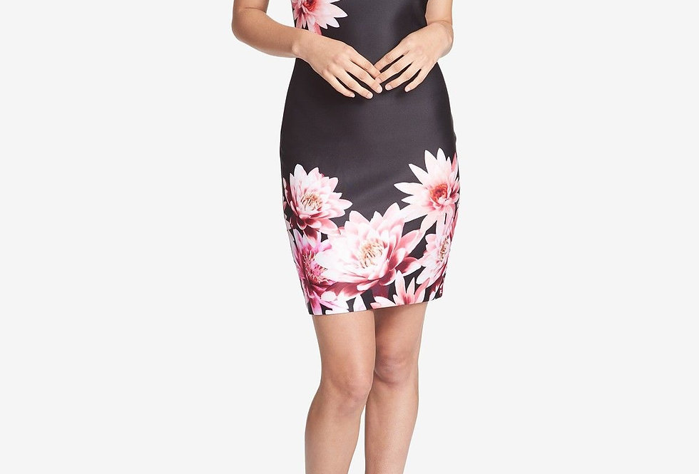 Guess Black and Floral Print Halter Neck Dress P159