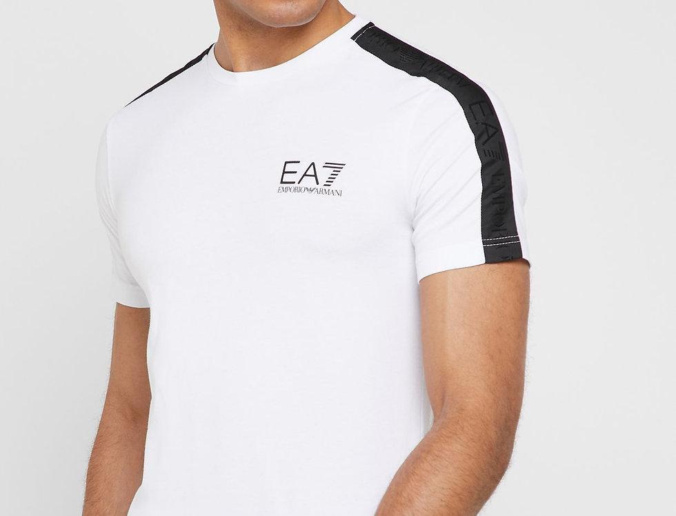 EMPORIO ARMANI Logo Taped Shoulder Crew Neck T-Shirt 3gpt07 pj03z