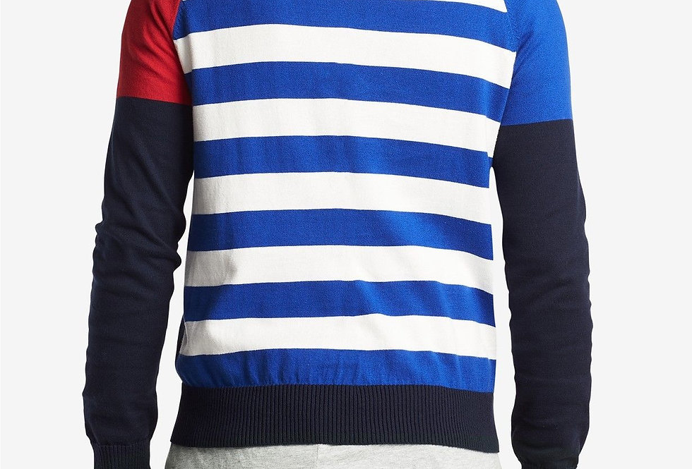 Tommy Hilfiger Men's Striped Mock Turtleneck Sweater P83