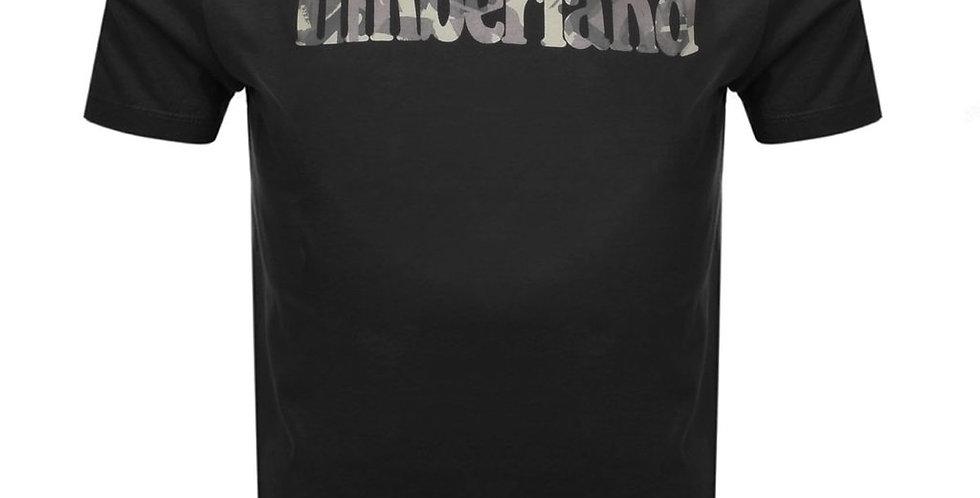 Timberland SS Camo Tree Linear T-Shirt - Black A1N4A 120 S2