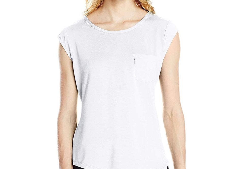 Calvin Klein Women White Sleeveless Top P48