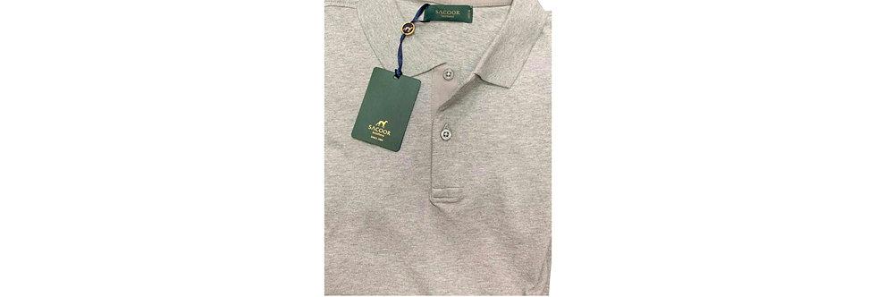 Sacoor Brothers Men's Grey Polo Shirt P75
