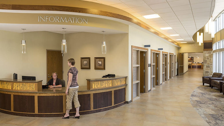 Front desk at facility