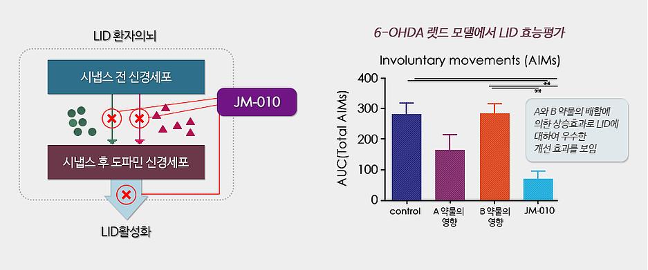 JM-010 : 파킨슨병 환자의 레보도파 유도 운동장애 치료제