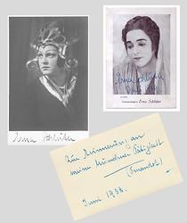 Erna Schlüter, Autogramme