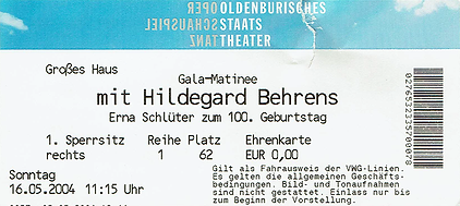 Schlüter-Gala mit Hildegard Behrens