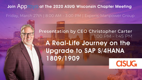 (Cancelled) Approyo to Sponsor the upcoming ASUG Wisconsin Chapter Meeting
