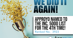 For the 4th Time, Approyo Appears on the Inc. 5000, Ranking No. 3923