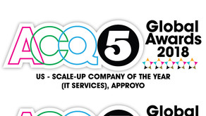 Approyo recognized as an Industry Leader in Three Categories of the 2018 ACQ5 Global Awards