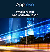 What's new in SAP S/4HANA 1809 from Appoyo