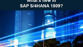 What's new in SAP S/4HANA 1809