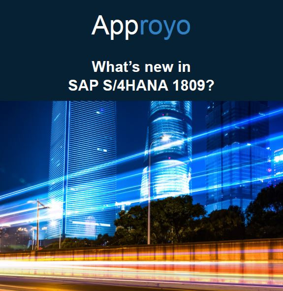 What's new in SAP S/4HANA 1809?