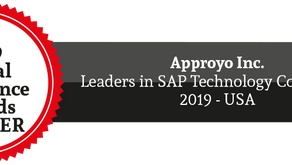 "Approyo named a Global Excellence Award Winner for ""Leaders in SAP Technology Consulting 2019 -"