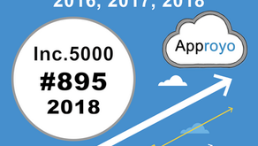 Approyo Honored 3 Years in a Row as an Inc. 5000 Company, Ranking No. 895
