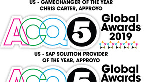 Approyo recognized as an SAP Industry Leader in Three Categories of the 2019 ACQ5 Global Awards