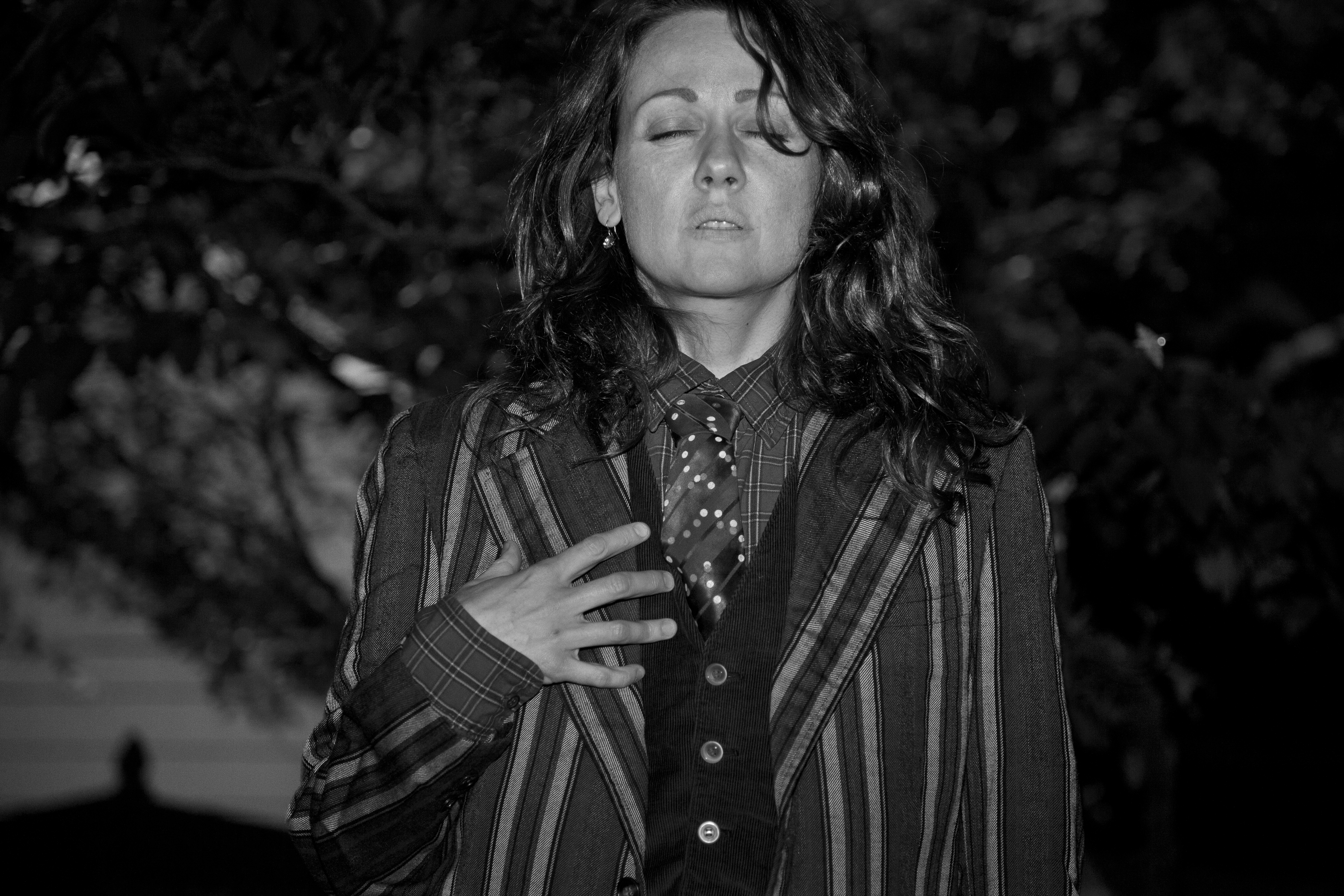 Alison Singing in the Night Garden Baltimore Md 5-2015BW