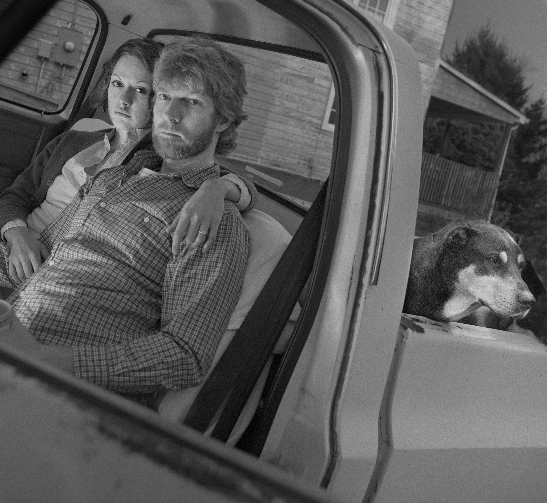 Alison, Allen and Hazen in Truck Occoquan Va 2001