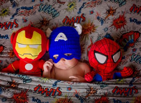 bébé super héro