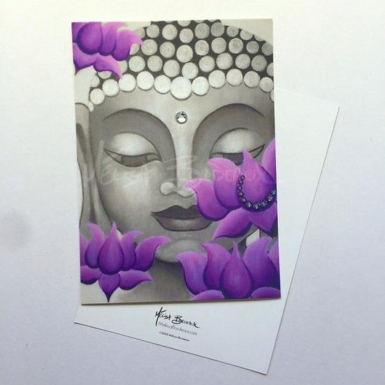 Buddha Lotus 9 - Mini Art Card