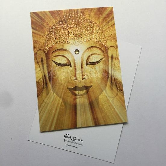 Golden Buddha - Mini Art Card