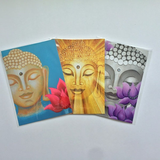 Buddha Art Cards - 3 Design Set