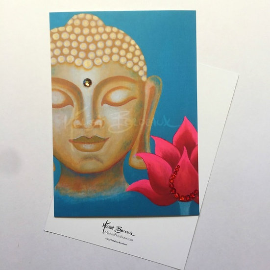 Buddha Lotus 11 - Mini Art Card