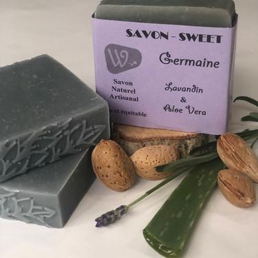 Savon à l'huile de Karité,  Lavandin et Aloe Vera