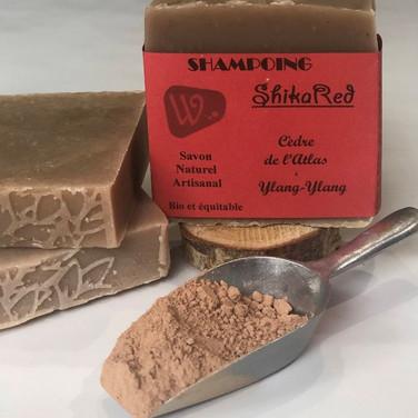 Shampoing Shika'Red - Cèdre de l'Atlas et Ylang-Ylang