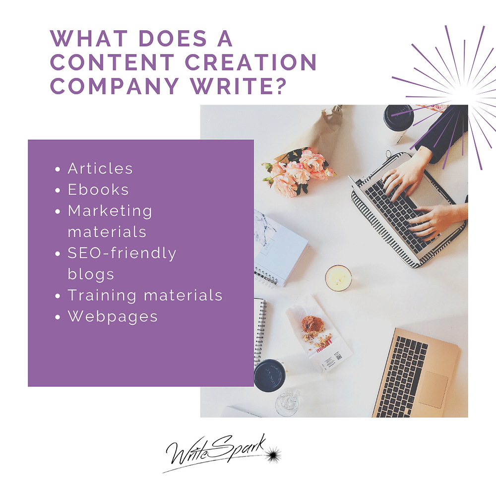 what does a content creation company write