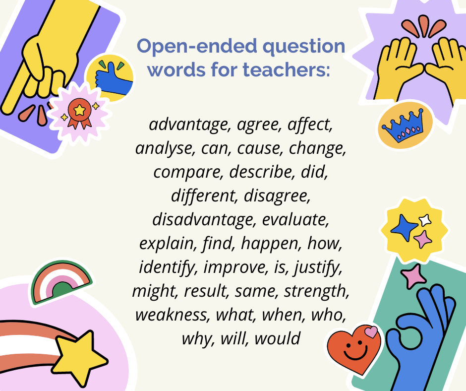 what are the best types of questions to ask primary children