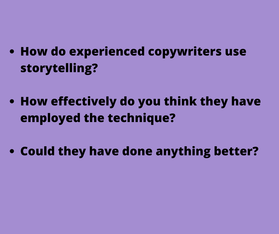 is storytelling the secret to copy that sells