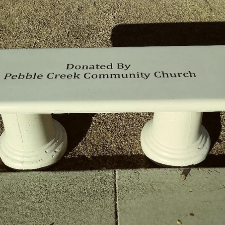 Giving back... PCCC donates benches