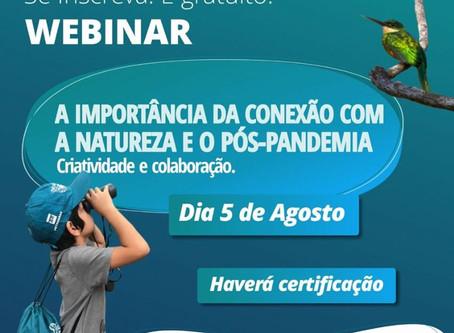 Projeto Bichos do Pantanal leva ao ar 1º Webinar sobre o tema Conexão com a Natureza