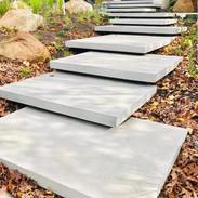 white stairs concrete design