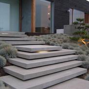 white concrete steps calgary