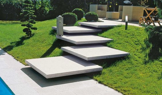 floating concrete designer stairs