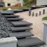 Black concrete stairs calgary