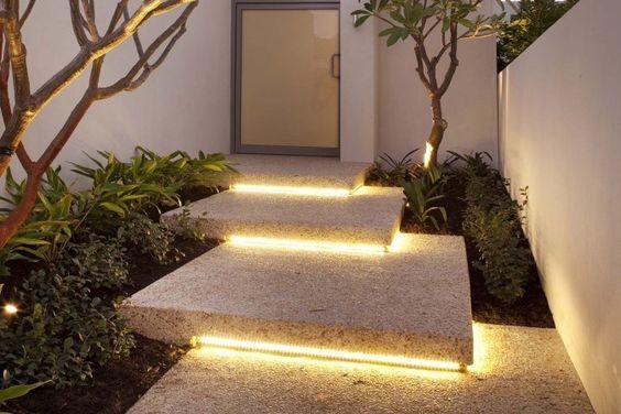 lighting under concrete steps