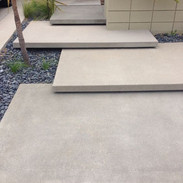 off white concrete floating steps