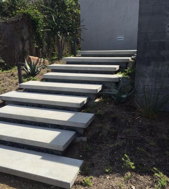 floating steps off white