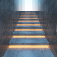 concrete stair light design