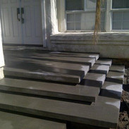 grey concrete stairs