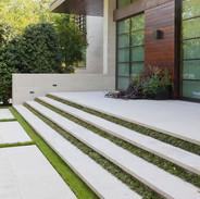 white cement stairs calgary