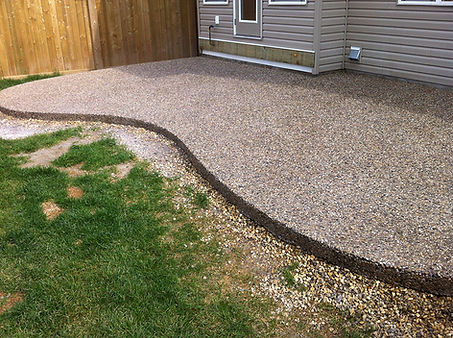 Exposed aggregate concrete calgary servi