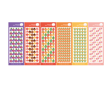 vegetable alphabet seal pack (30g)