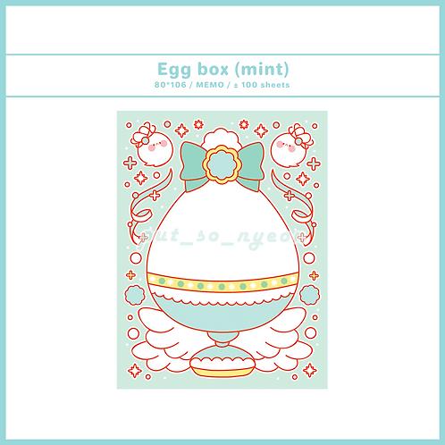 egg box : mint (70g)