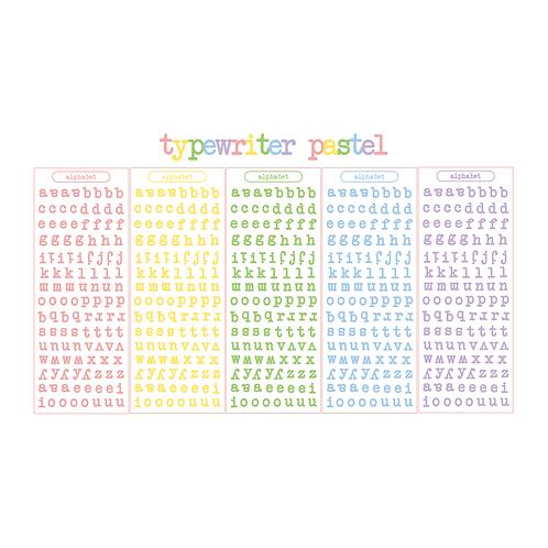typewriter alphabet pastel seal pack (25g)